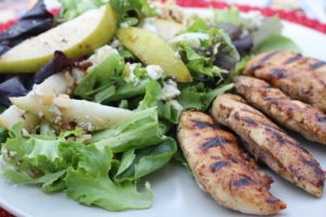 Balsamic Chicken & Walnut Gorgonzola Salad