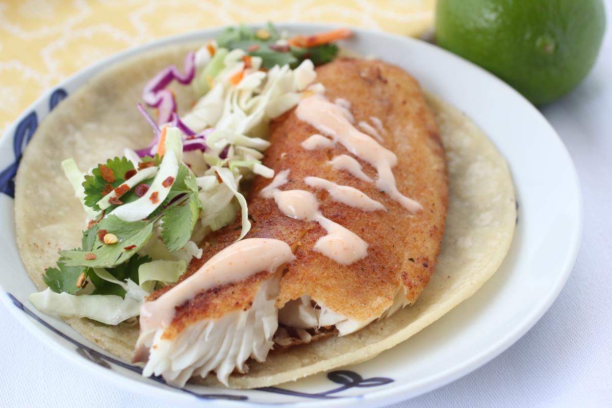 Baja fish tacos recipe dishmaps for Recipes for fish